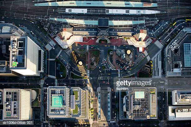 Japan, Tokyo, Tokyo station, aerial view