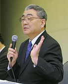 TOKYO Japan Toshio Nishizawa president of Tokyo Electric Power Co speaks during a news conference at the company's head office in Tokyo on Dec 22...