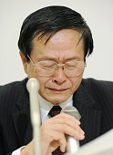 TOKYO Japan Toshiso Kosako a professor at the University of Tokyo's graduate school who specializes in antiradiation safety measures sheds tears...