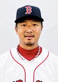 TOKYO Japan Undated file photo shows Japanese lefthander Hideki Okajima a former Boston Red Sox reliever Okajima has agreed to terms with the New...