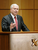 TOKYO Japan US Defense Secretary Robert Gates speaks at Keio University in Tokyo on Jan 14 2011 Gates touted the pivotal role of the US military...