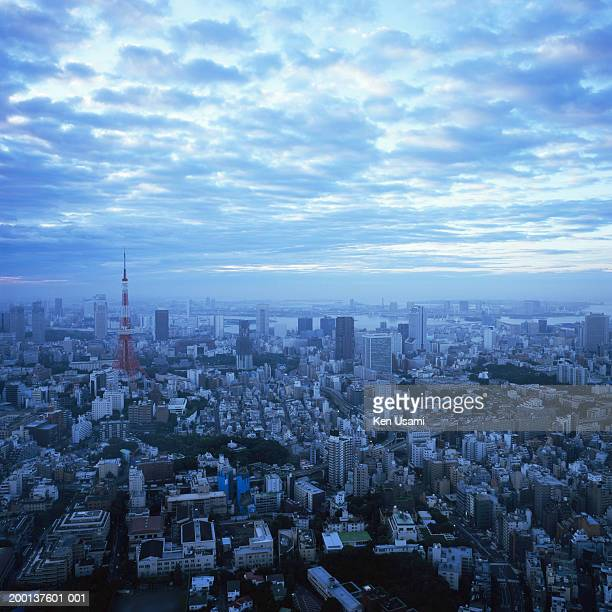 Japan, view of Tokyo skyline from Roppongi, dawn