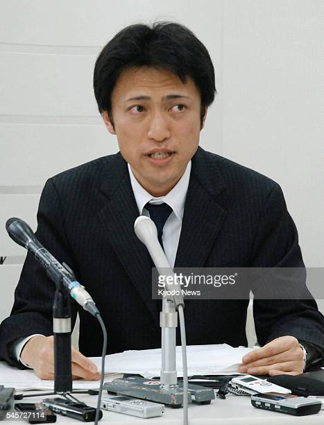 KANAZAWA Japan Yasuhiro Kanzaka president of Foods Forus Co which operates the Yakinikuzakaya Ebisu barbecue restaurant chain speaks during a press...