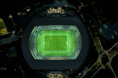 Japan, Yokohama, Kanagawa, Yokohama International Stadium, aerial view