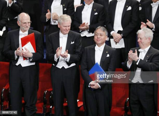 Japanborn British novelist Kazuo Ishiguro author of the 1989 Man Booker Prizewinning 'The Remains of the Day' receives the 2017 Nobel Prize in...