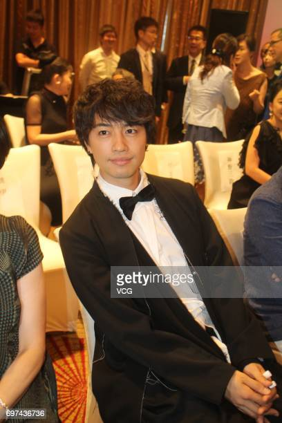 Japanese actor and model Takumi Saito attends the welcome banquet of Japan Film Week during the 20th Shanghai International Film Festival on June 18...