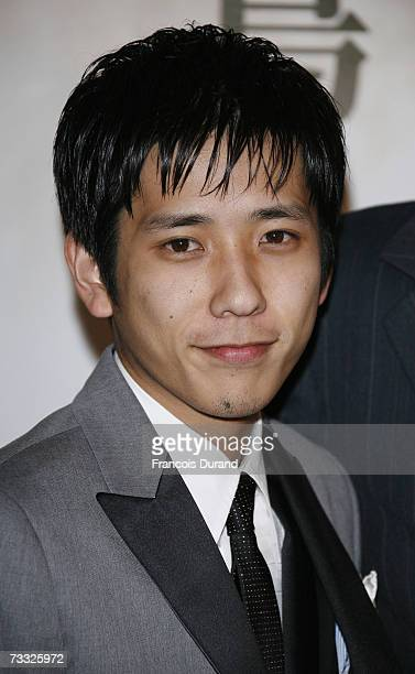 Japanese actor Kazunari Ninomiya attends the premiere for the movie 'Letters From Iwo Jima' on February 14 2007 in Paris France