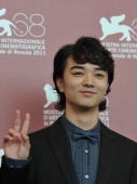 Japanese actor Shota Sometani poses during the photocall of 'Himizu' at the 68th Venice Film Festival on September 6 2011at Venice Lido 'Himizu' is...