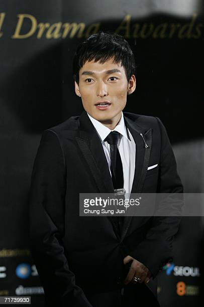Japanese actor Tsuyoshi Kusanagi arrives for the 1st Seoul Drama Awards 2006 at the Korea Broadcasters Association on August 29 2006 in Seoul South...