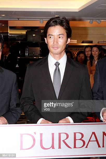 Japanese actor Yutaka Takenouchi attends ribboncutting ceremony of the D'urban on April 12 2010 in Hong Kong China