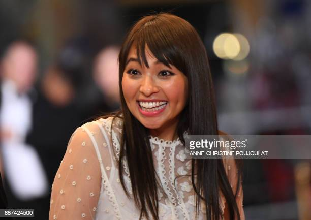 Japanese actress Ayame Misaki arrives on May 23 2017 for the screening of the film 'Hikari' at the 70th edition of the Cannes Film Festival in Cannes...
