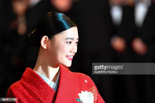 TOPSHOT Japanese actress Hana Sugisaki poses as she arrives on May 18 2017 for the screening of the film 'Blade of the Immortal' at the 70th edition...