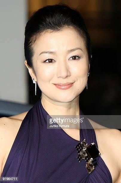 Japanese actress Kyoka Suzuki walks on the green carpet during the 22nd Tokyo International Film Festival Opening Ceremony at Roppongi Hills on...