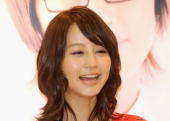 Japanese actress Maki Horikita poses at a grand opening ceremony of a Japanese food store on August 23 2010 in Hong Kong China
