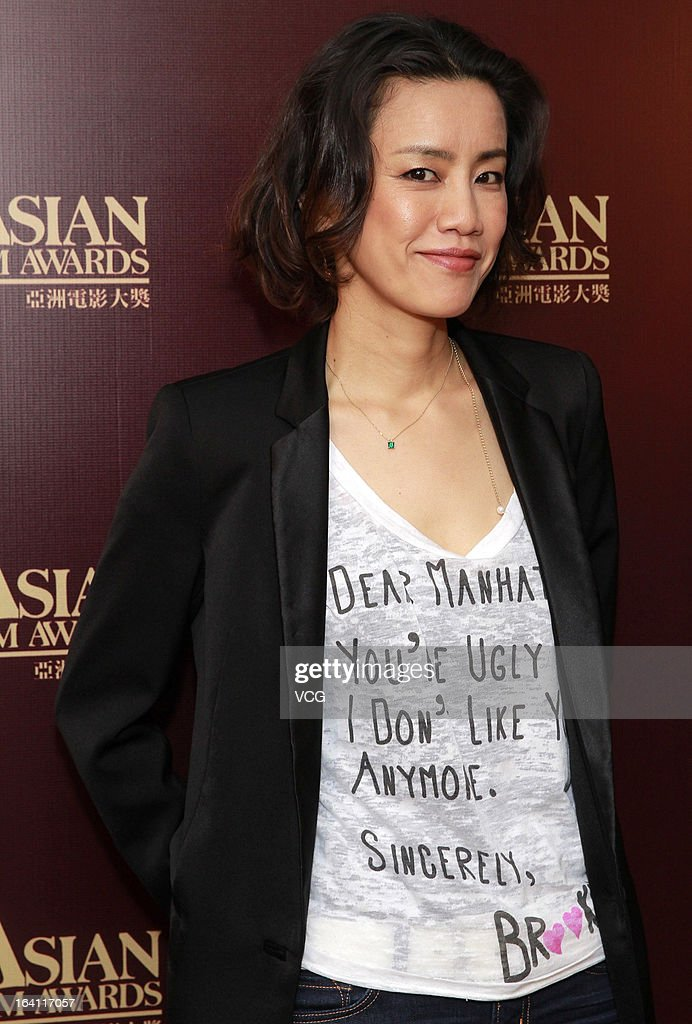 Japanese actress Makiko Watanabe attends a press conference at the 7th Asian Film Awards on March 19, 2013 in Hong Kong.