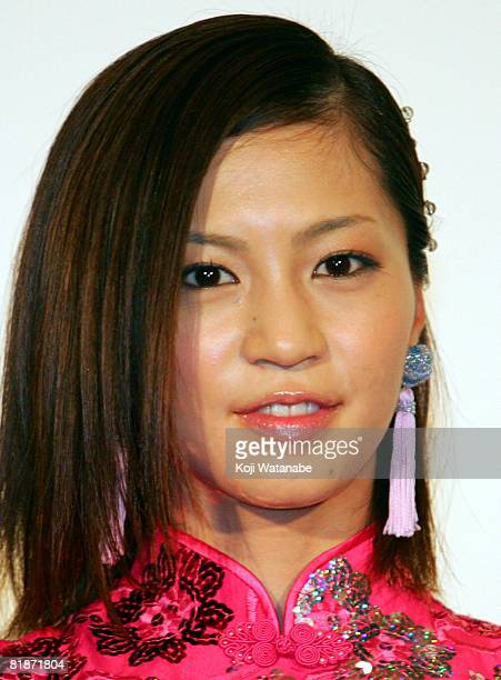 Japanese actress Misako Yasuda attends 'The Forbidden Kingdom' Japan Premiere at Marunouchi Piccadilly on July 9 2008 in Tokyo Japan The film will...