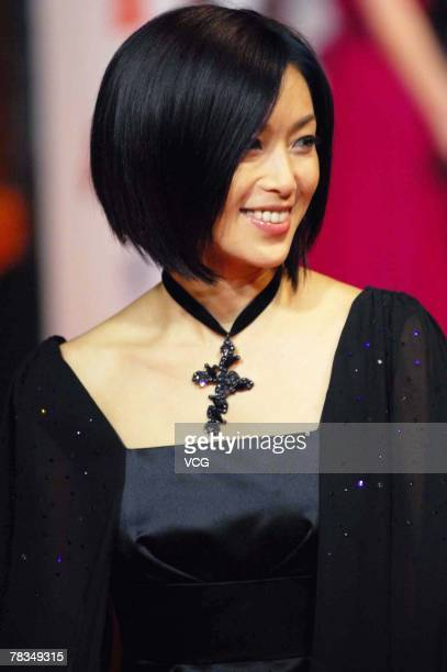 Japanese actress Noriko Sakai arrives for the Channel Young China Fashion Awards 2007 on Dec 9 2007 in Shanghai China