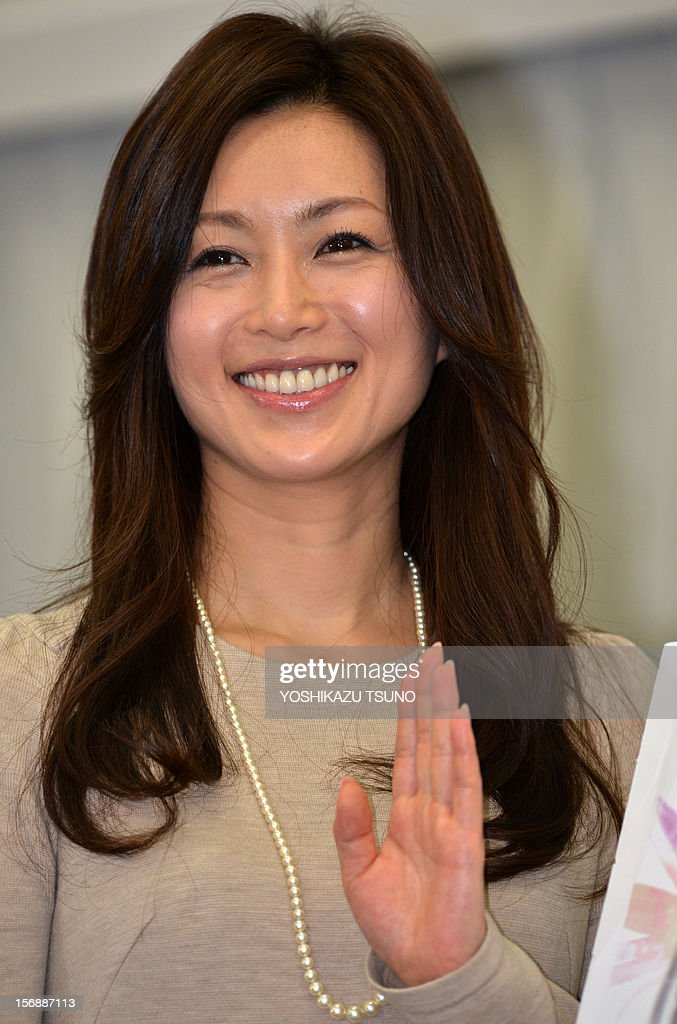 Japanese actress Noriko Sakai, well known in Asia especially in China, who was convicted of illegal drug use in 2009, announces her comeback to the entertainment business at a press conference in Tokyo on November 24, 2012. Sakai will return to the stage 'Rhapsody of Azure Sky' in Tokyo on Decmber 15 after the expiration of her suspended sentence. AFP PHOTO / Yoshikazu TSUNO