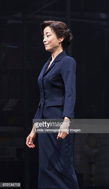 Japanese actress Rie Miyazawa performs at a photo call for the Ninagawa Company production of 'Kafka on the Shore' as part of Lincoln Center Festival...