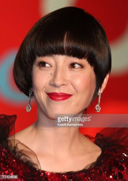 Japanese actress Rie Miyazawa poses on the Stage during day one of the 20th Tokyo International Film Festival at Roppongi Hills on October 20 2007 in...