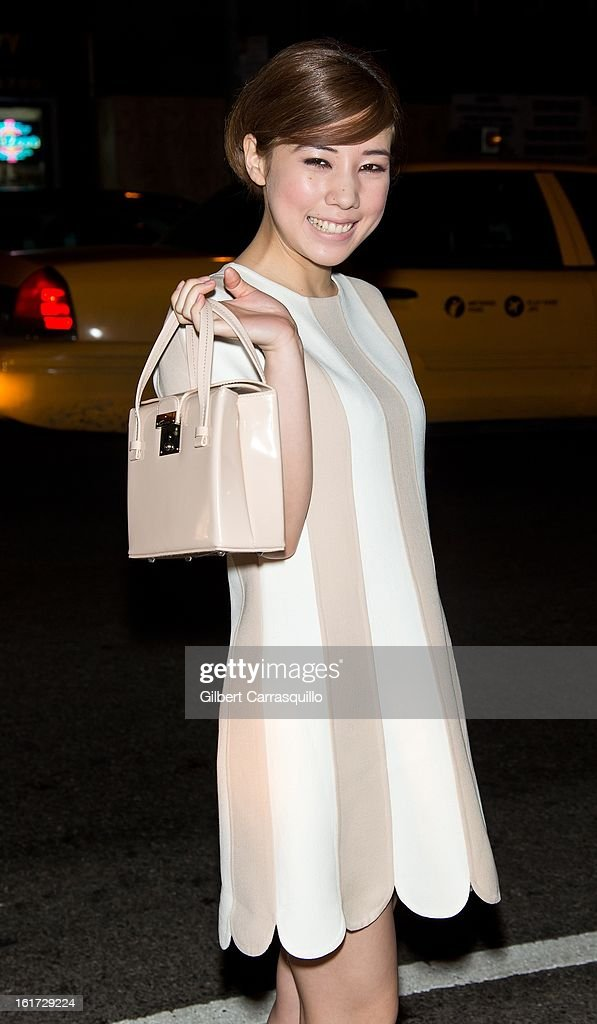 Japanese Actress <a gi-track='captionPersonalityLinkClicked' href=/galleries/search?phrase=Riisa+Naka&family=editorial&specificpeople=7505652 ng-click='$event.stopPropagation()'>Riisa Naka</a> attends the Marc Jacobs Fall 2013 Mercedes-Benz Fashion Show at N.Y. State Armory on February 14, 2013 in New York City.