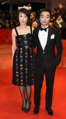 Japanese actress Rinko Kikuchi and her husband actor Shota Sometani arrive for the opening of the Berlinale International Film Festival in Berlin...