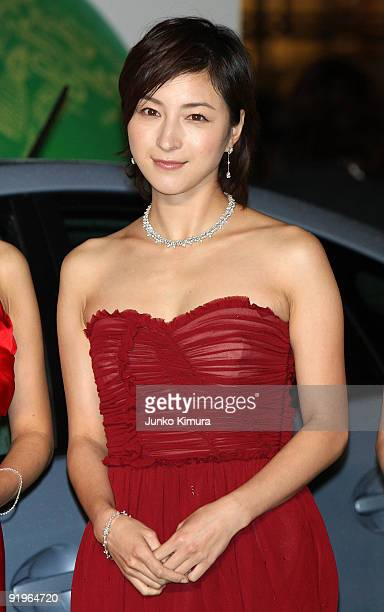 Japanese actress Ryoko Hirosue walks on the green carpet during the 22nd Tokyo International Film Festival Opening Ceremony at Roppongi Hills on...