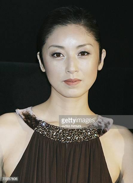Japanese actress Saki Takaoka poses before the screening of their film 'A Long Walk' directed by Eiji Okuda during the 19th Tokyo International Film...