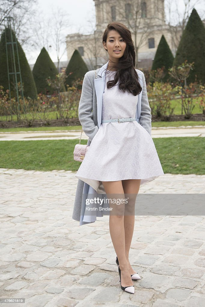 Japanese Actress Sumie Matsubara on day 4 of Paris Collections Women on February 28 2014 in Paris France