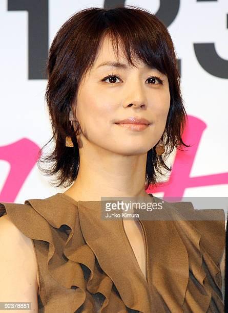 Japanese actress Yuriko Ishida attends the 'Sayonara Itsuka' press conference at Mandarin Oriental Tokyo on October 27 2009 in Tokyo Japan the film...