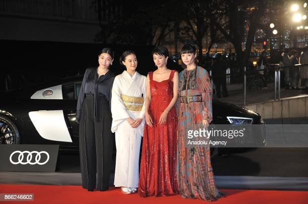Japanese actresses Sakura Ando Yu Aoi Hikari Mitsushima and Aoi Miyazaki attends the red carpet of the 30th Tokyo International Film Festival in...