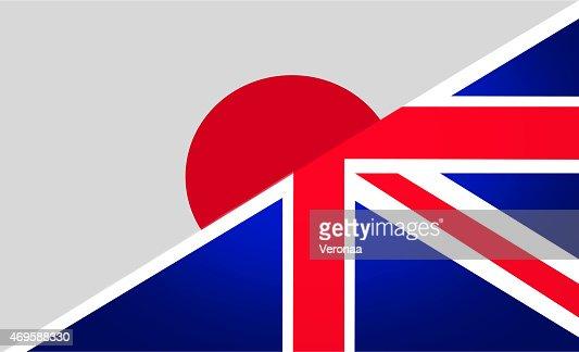 Japanese and British flag