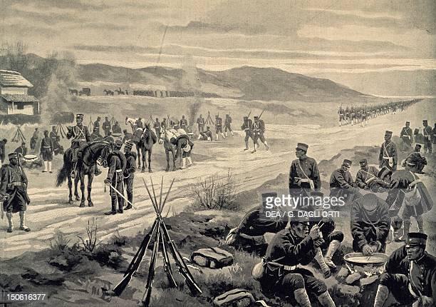 Japanese Army encampment February 1904 RussoJapanese War 20th century