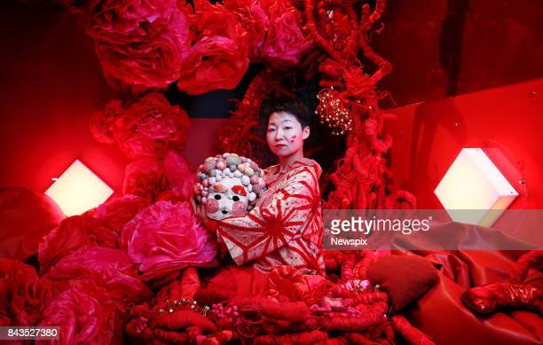 SYDNEY NSW Japanese artist Hiromi Tango with dancers Madeleine Towler Lovell and Paul Walker pose during a media call at the Carriageworks in Sydney...