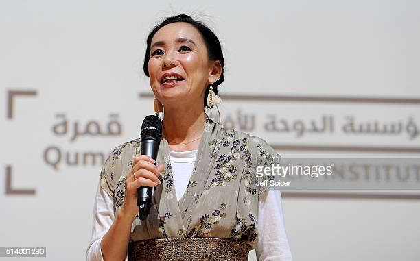 Japanese auteur and Qumra master Naomi Kawase introduces the screening of 'The Mourning Forest' in Doha on day three of Qumra an industry event by...