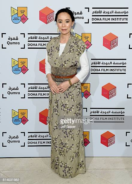 Japanese auteur Naomi Kawase attends a screening of 'The Mourning Forest' in her role as Qumra Master in Doha on day three of Qumra an industry event...