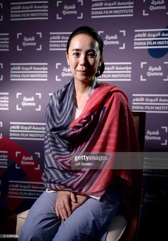Japanese auteur <a gi-track='captionPersonalityLinkClicked' href=/galleries/search?phrase=Naomi+Kawase&family=editorial&specificpeople=3267953 ng-click='$event.stopPropagation()'>Naomi Kawase</a> speaks with the Doha Film Institute on day five of Qumra, the second edition of the industry event by the Doha Film Institute dedicated to the development of emerging filmmakers on March 8, 2016 in Doha, Qatar.