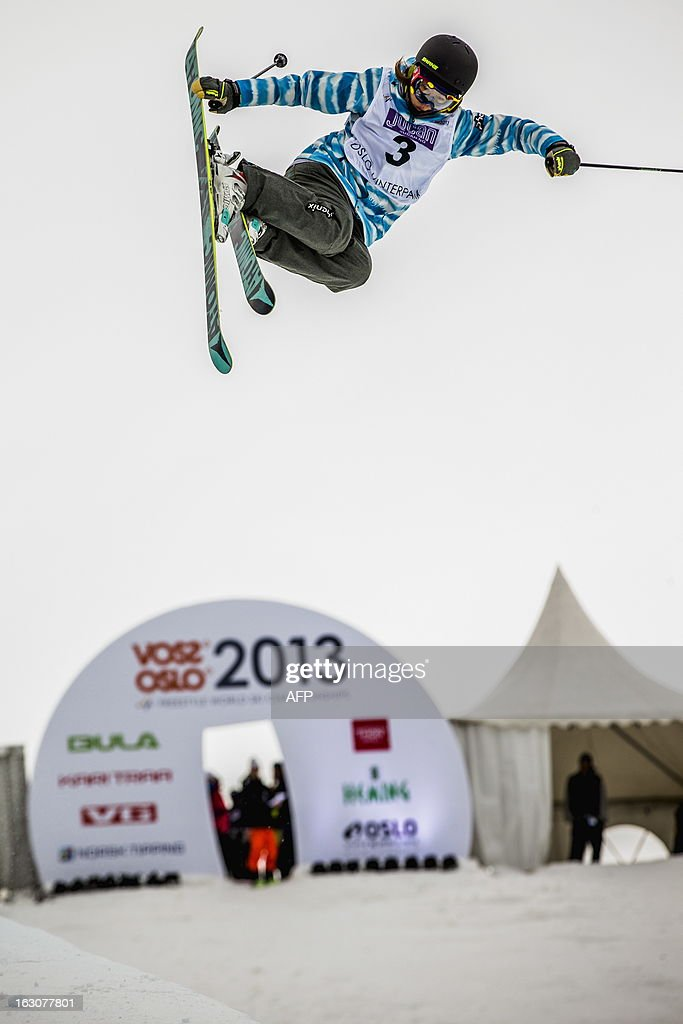 Japanese Ayana Onozuka competes during the qualification race for the FIS ladies Freestyle Halfpipe Skiing World Cup in Oslo-Tryvann, Norway on March 4, 2013. The actual competition will take place on March 5, 2013.