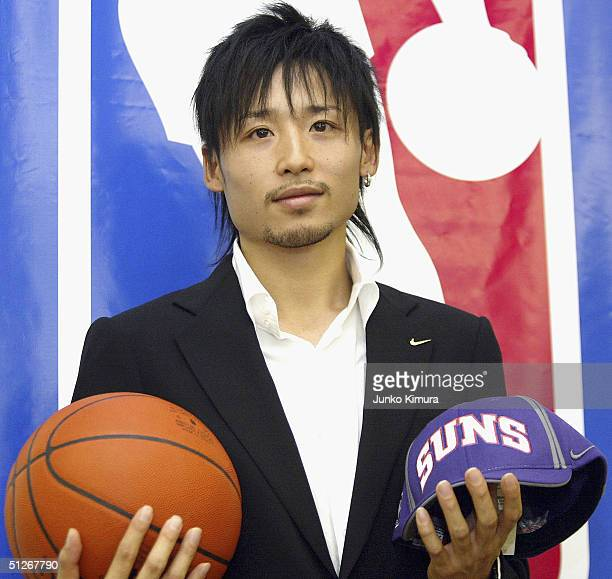 Japanese basketball player Yuta Tabuse attends a press conference on September 7 2004 in Tokyo Japan Tabuse is hoping to become the first Japanese...