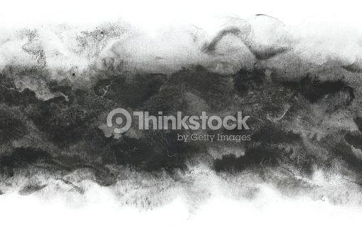 Japanese black ink abstract or vintage paint stroke background : Stock Photo