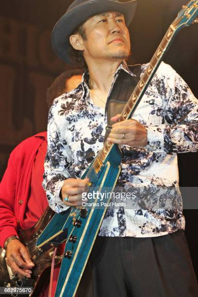 Japanese Blues guitarist Shun Kikuta performs at the Chicago Blues Festival JUNE 12 2016 in Chicago Illinois