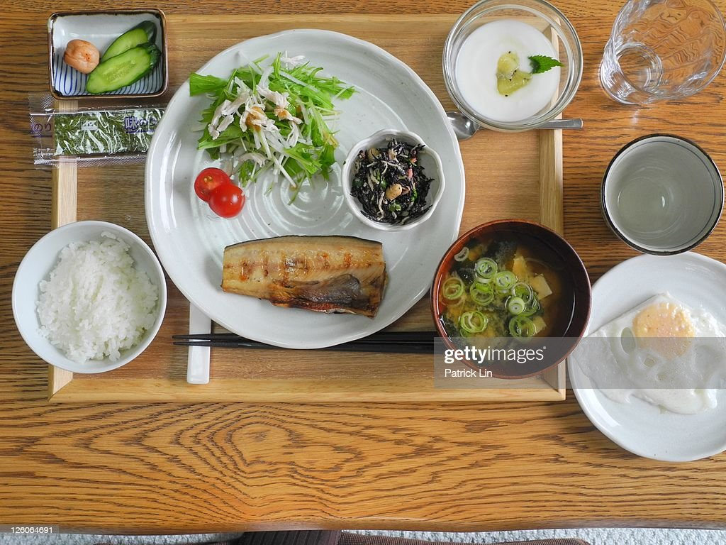 Japanese breakfast : Stock Photo