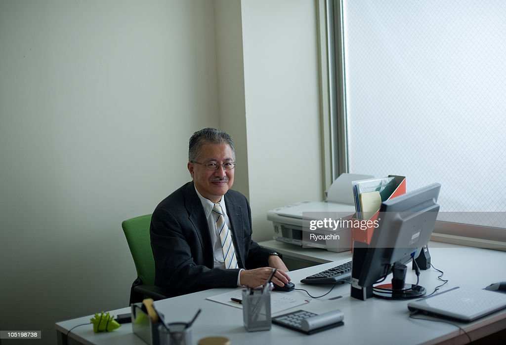 Japanese business man in the office : Stock Photo