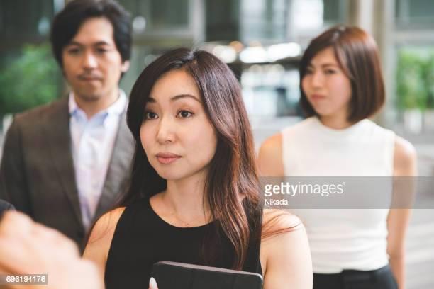 Japanische Unternehmen Menschen im Büro Hof