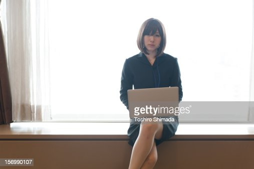 A Japanese business woman : Stock Photo