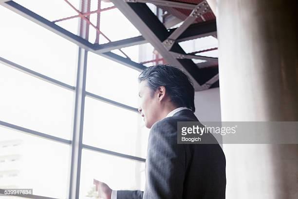 日本の実業家基準音声プレゼンテーションのビジネスミーティング
