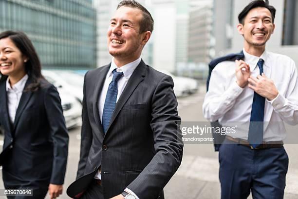japanese Businessmen on the street of Osaka