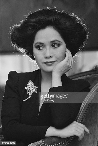 Japanese businesswoman Dewi Sukarno the widow of Sukarno first President of Indonesia circa 1980