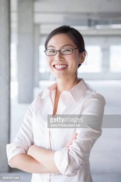 Japanese businesswoman smiling