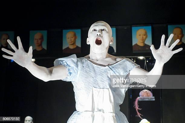 Japanese Butoh dancer and choreographer Kumotaro Mukai of the troupe Dairakudakan performs the 'Maggot Brain' section of his 'Universe of DarahReturn...